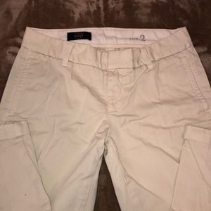 J-Crew Cream Ankle/Cropped Trousers